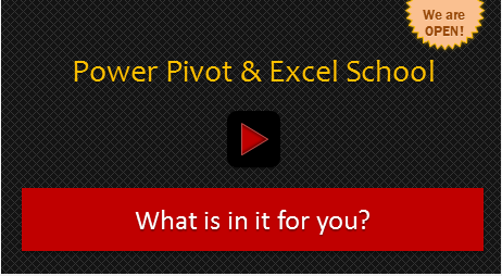 Chandoo Power Pivot & Excel School